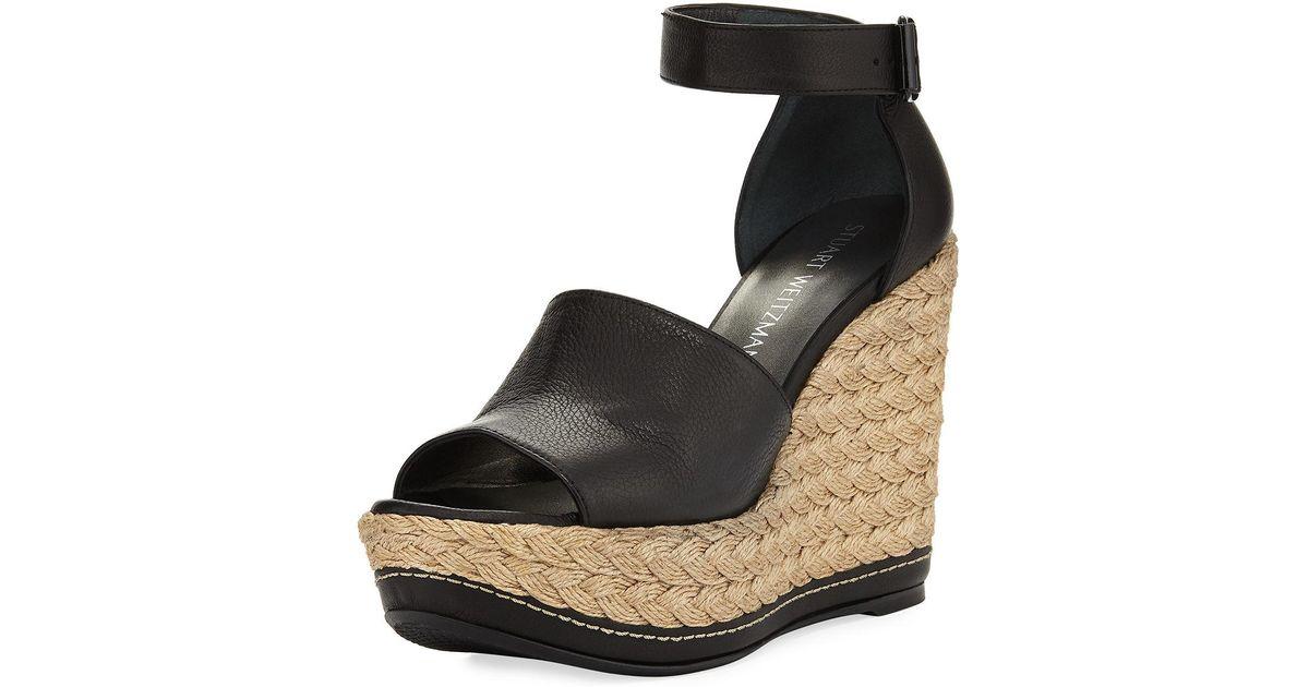 Lyst Weitzman Platform Wedge Black Sandal Sohojute Stuart MGqSzVpU