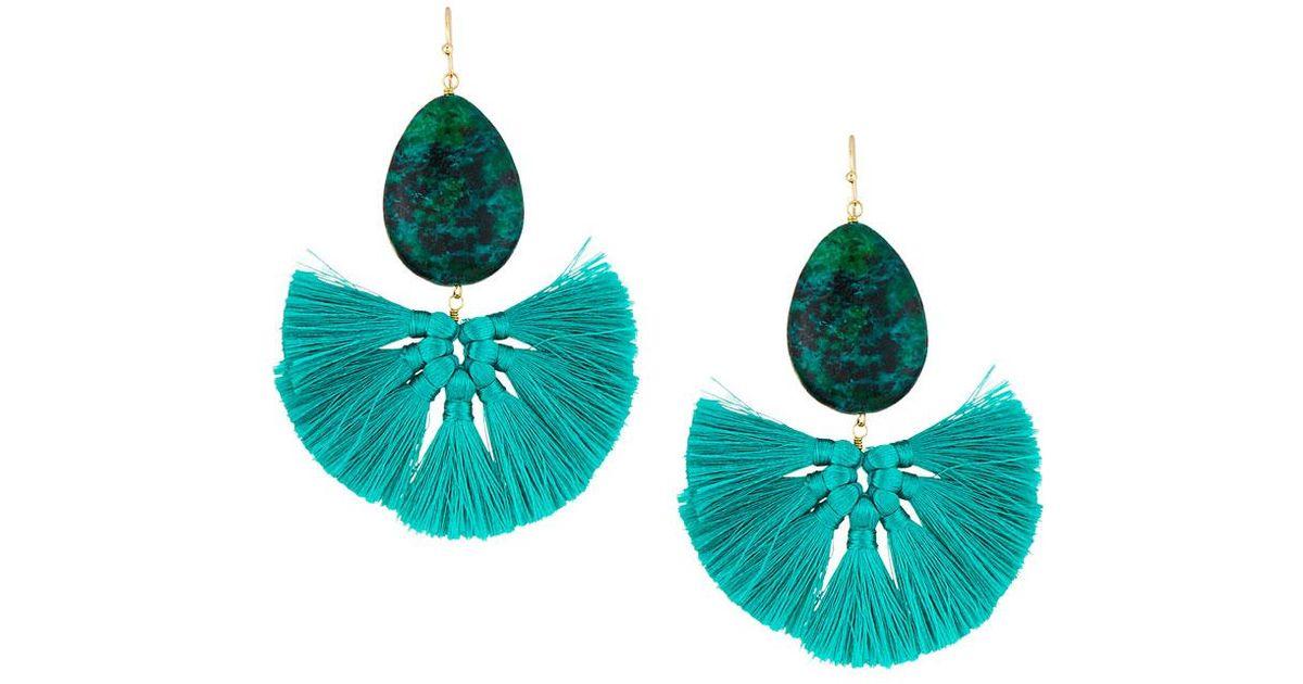 Panacea Stone Fan Drop Earrings 5qbnQ9Nj