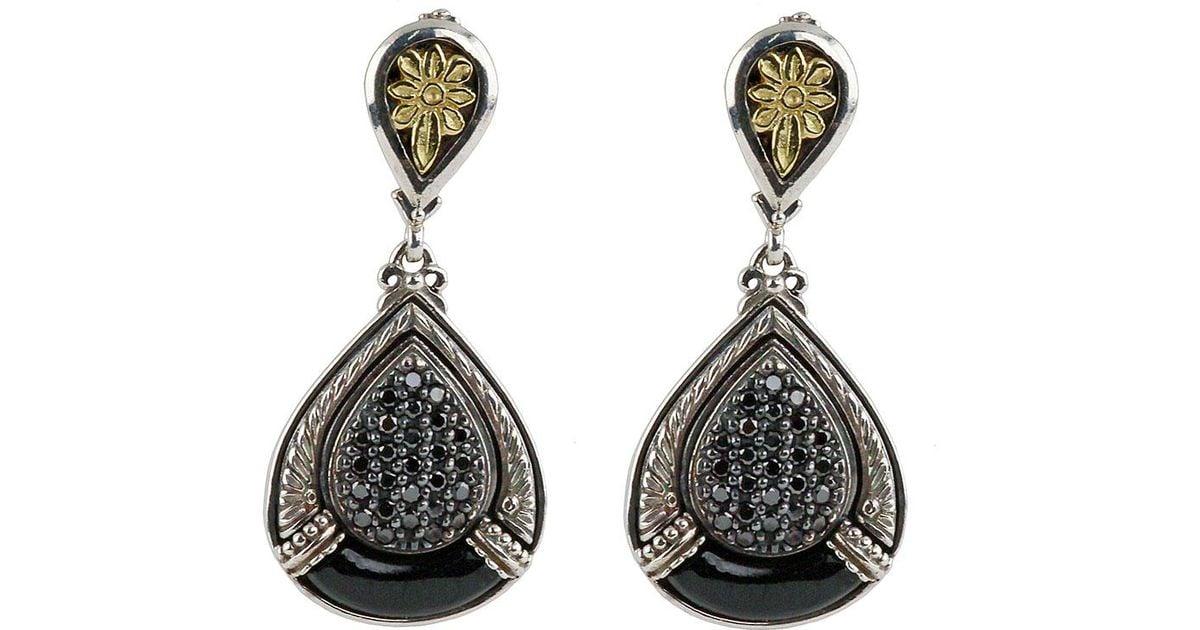 Konstantino Asteri Pave Black Diamond Dangle Earrings eigF4i0G