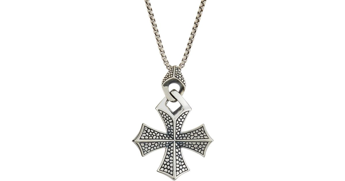 Lyst stephen webster mens rayman templar cross pendant necklace lyst stephen webster mens rayman templar cross pendant necklace in metallic for men aloadofball Image collections