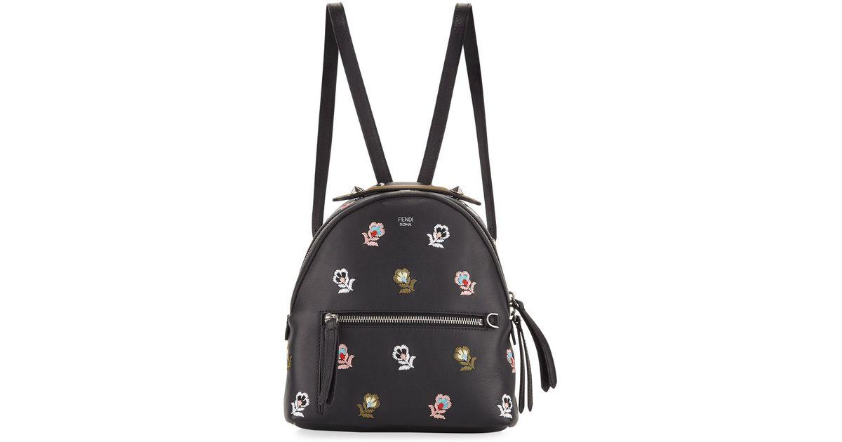 Fendi Zaino Mini Floral-Embroidered Backpack zjTQSK1y