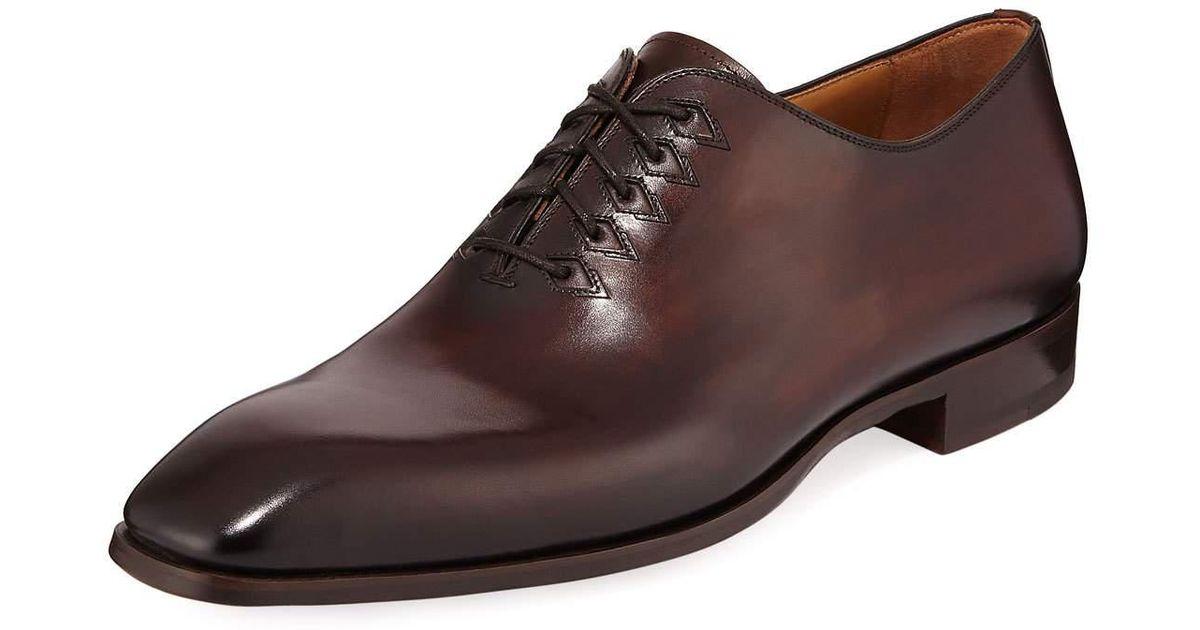 33d762e9386 Neiman Marcus - Brown Men's Lace-up Leather Dress Shoes for Men - Lyst