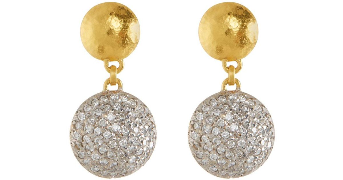Gurhan Lentil Ice 24k Gold & Diamond Drop Earrings 1Tvn1bIYM