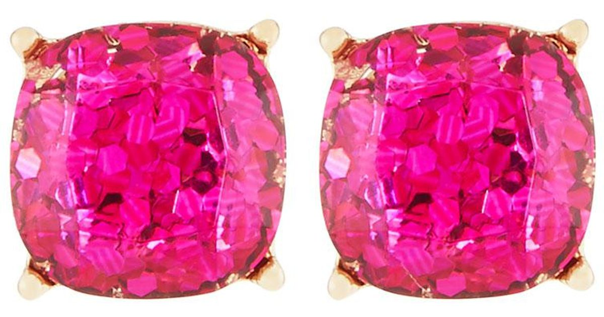 Lydell Nyc Fuchsia Glitter Stud Earrings kmm5pcdo