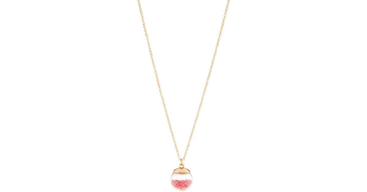 Lydell Nyc Dark Fuchsia Globe Shaker Pendant Necklace rHUaKl