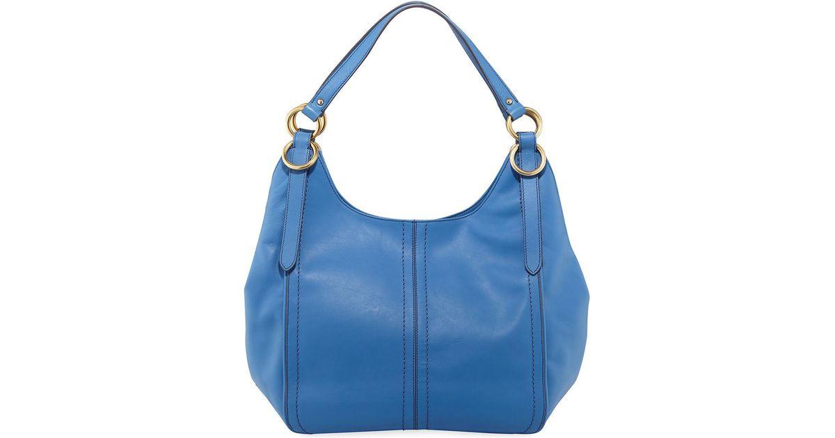 adb6d2b541c Lyst - Cole Haan Julianne Leather Tote Bag in Blue