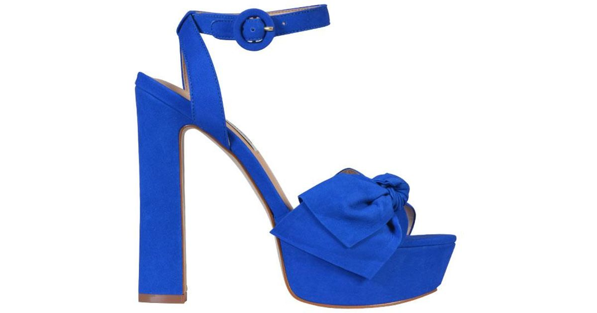 508c927aa31 Lyst - Steve Madden Breena Platform Sandals in Blue