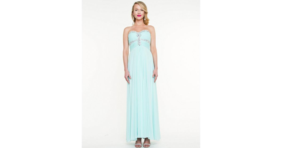 Le Chateau Iridescent Sweetheart Gown in Blue - Lyst