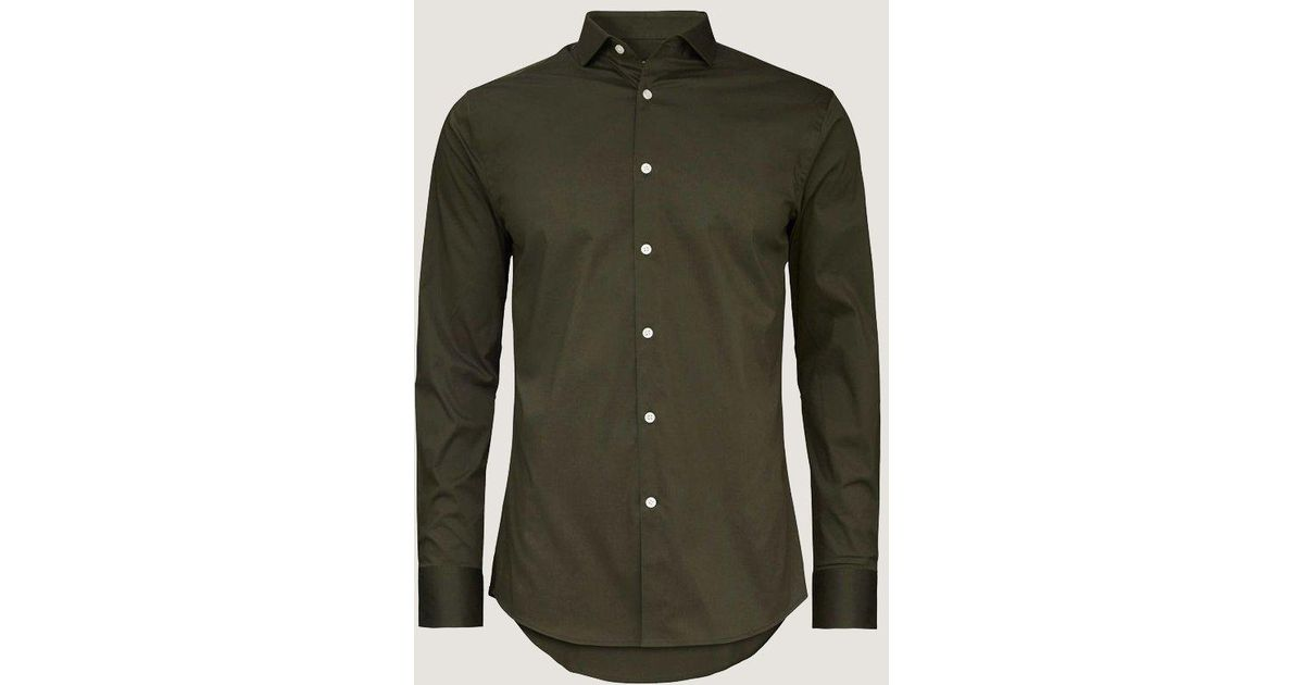 387734c8847 Tiger Of Sweden Farrell 5 Shirt | Wood Green in Green for Men - Lyst