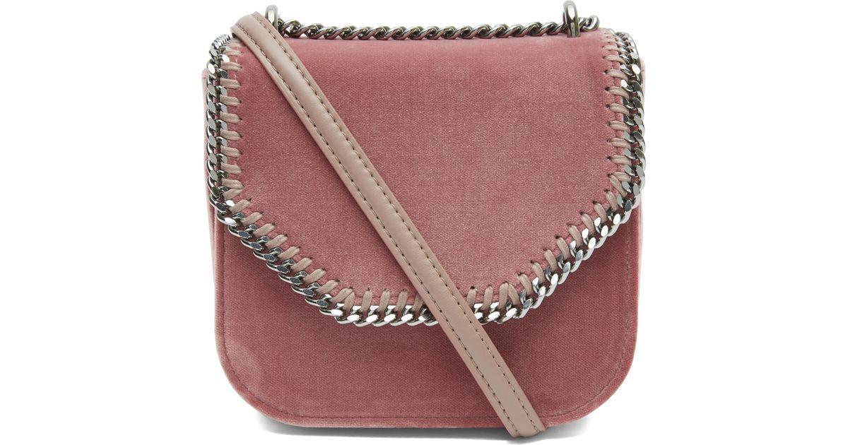 Stella McCartney Falabella Box Velvet Shoulder Bag - Lyst 446303a9a77c6