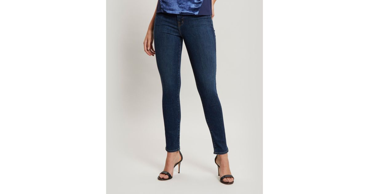 5874afd57c6b Lyst - J Brand Ruby High-rise Cigarette Jeans in Blue