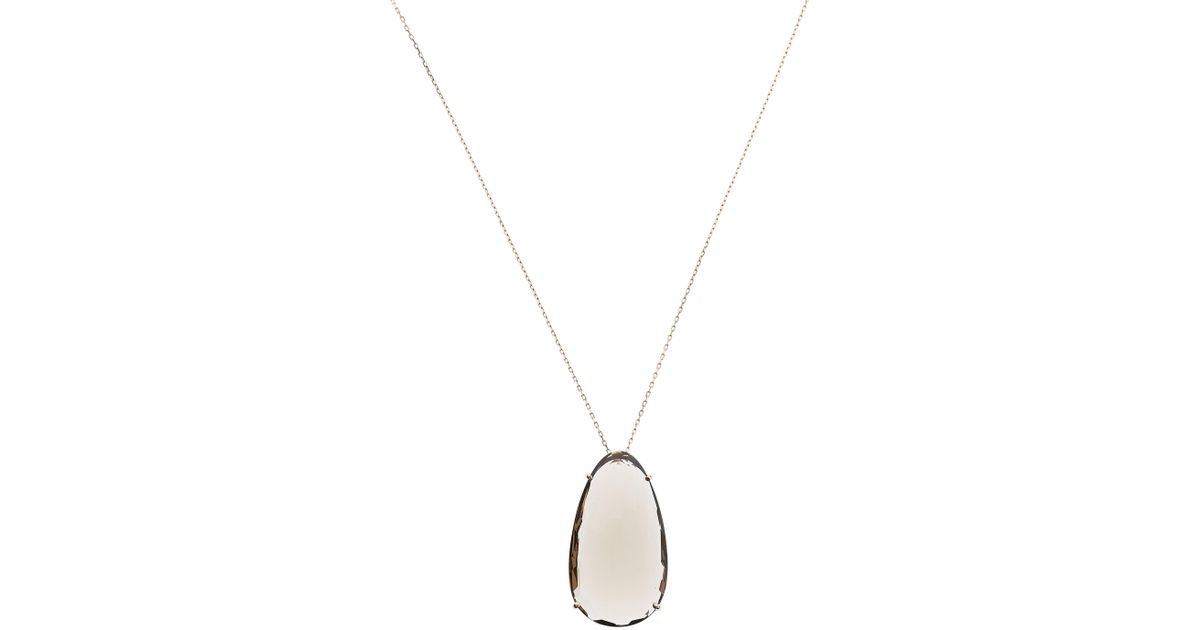 Lyst suzanne kalan rose gold pear smoky quartz pendant necklace in lyst suzanne kalan rose gold pear smoky quartz pendant necklace in metallic aloadofball Image collections