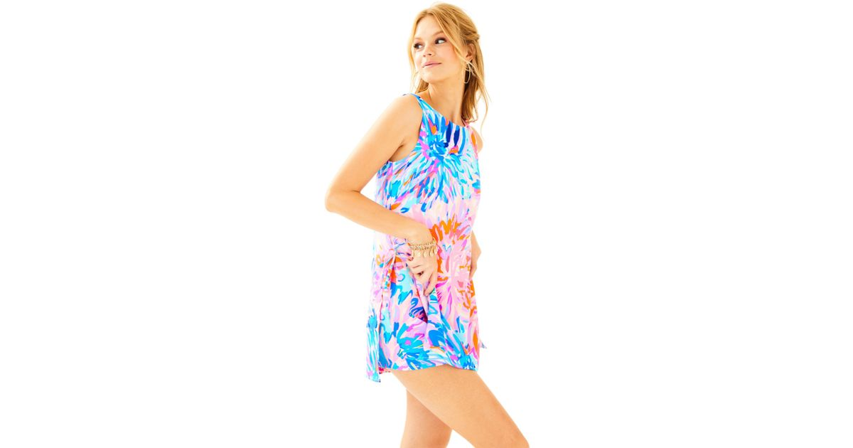 b97485094d62 Lyst - Lilly Pulitzer Donna Romper in Blue