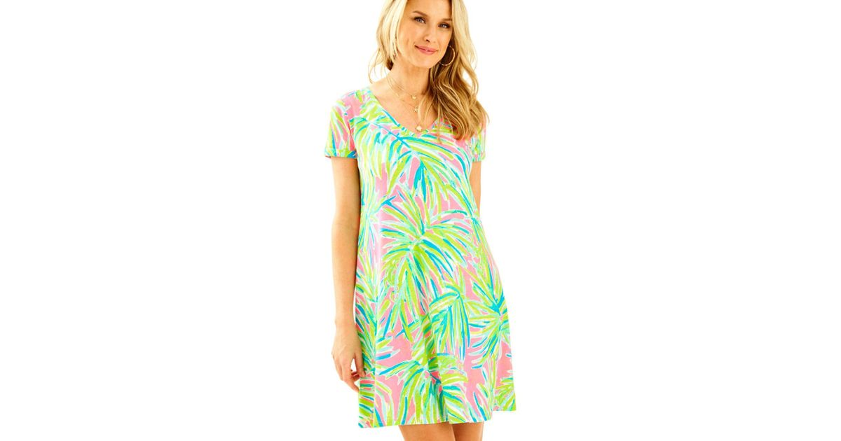 ee23feaba492ef Lilly Pulitzer Jessica Short Sleeve Dress in Green - Save 50% - Lyst