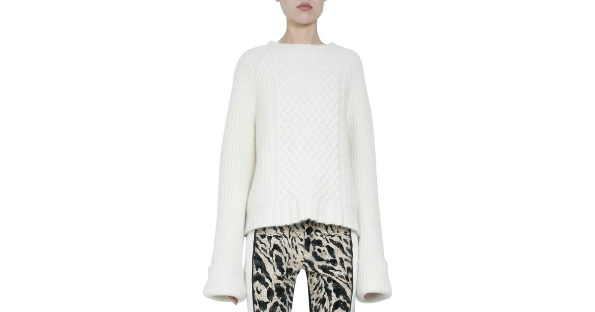 a44ba8bc9f Lyst - Haider Ackermann Borago Cream Wool And Silk Sweater in White