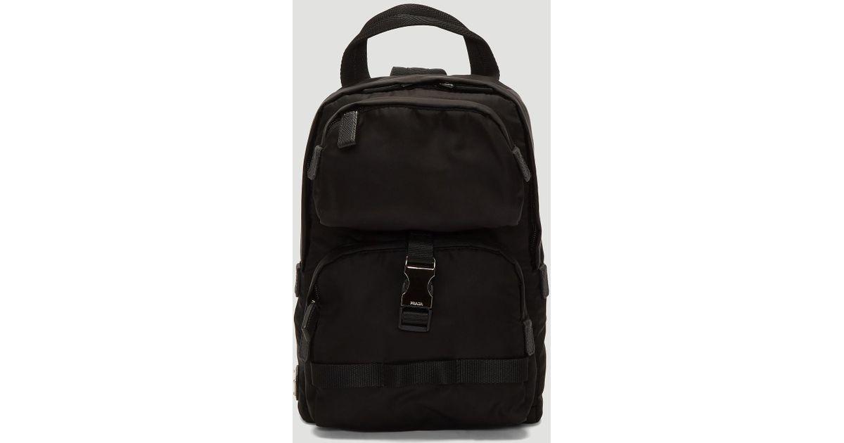 06d862f42250 Lyst - Prada Fabric Shoulder Strap Backpack In Black in Black for Men