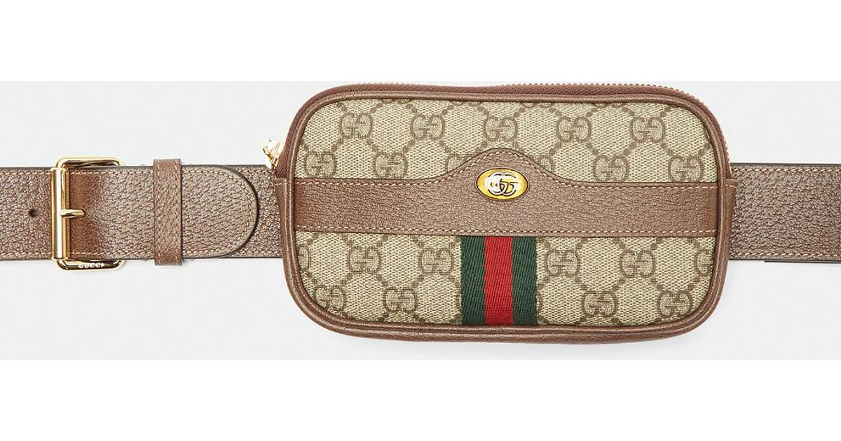 31a2aaa7de6faf Gucci Ophidia Gg Belted Iphone Case In Brown in Brown - Lyst
