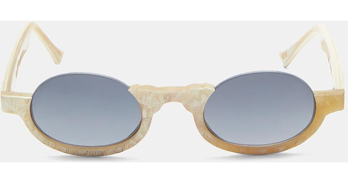 139a9bb8bb Lyst - Rigards Unisex 0064 Sunglasses In Beige in Natural for Men - Save  13.666666666666671%
