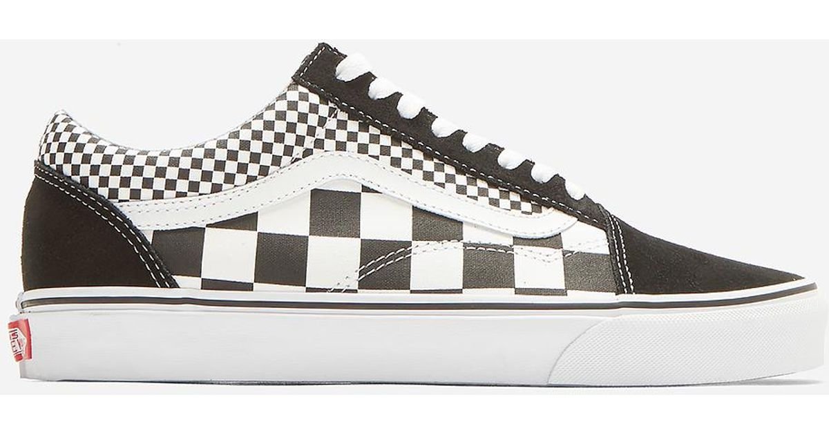 e230d27234 Lyst - Vans Classic Old Skool Mix Checkerboard Sneakers In Black in Black  for Men