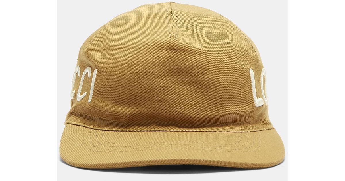 Loved embroidered cap - Brown Gucci iO2sy