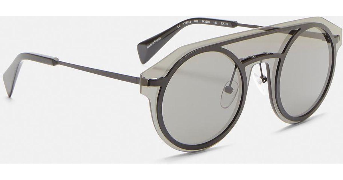 4818fddc47a Yohji Yamamoto Yy7013 Sheer Acetate Sunglasses In Black in Black for Men -  Lyst