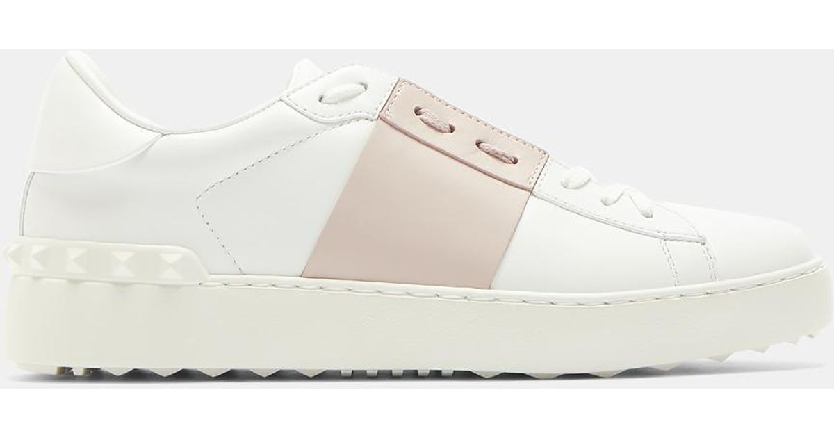Open Contrast Panel Stud Sneakers Valentino juVYYf2I