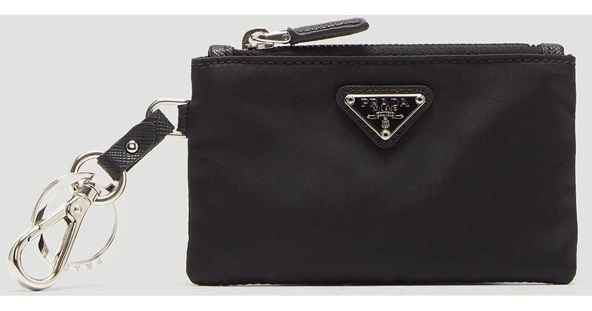 new zealand prada saffiano leather men key holder bfabulous f75d3 20945   promo code for lyst prada nylon key chain wallet in black in black for men  6c1de 1ff0c5bf886f1