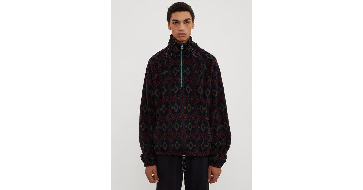 Lanvin Geometric Half Zip Sweater Geometric Half cUU8yqT