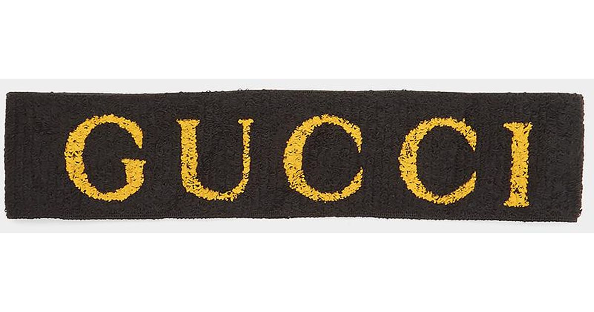 Lyst Gucci Logo Head Band In Black In Black