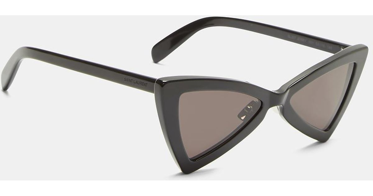 ea5e6c377b Saint Laurent New Wave 207 Jerry Triangular Sunglasses In Black in Black -  Lyst