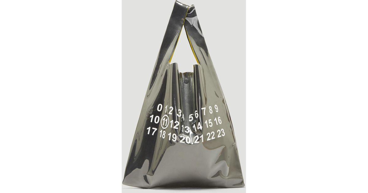 be1eee5b77e7 Maison Margiela Logo Plastic Bag Tote Bag In Black in Black for Men - Lyst