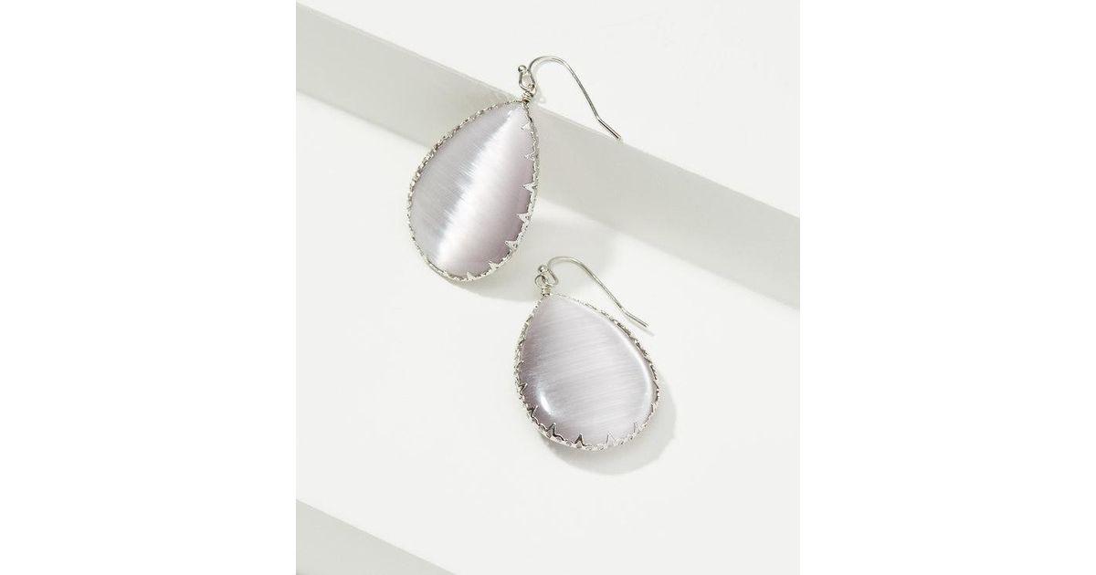 454674cb73f Lyst - LOFT Stone Drop Earrings in Metallic