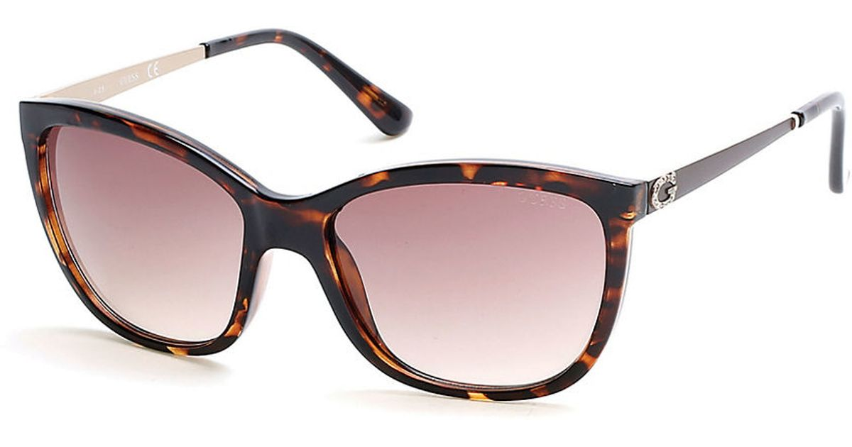 b5db789c3c Guess 58mm Square Sunglasses in Brown