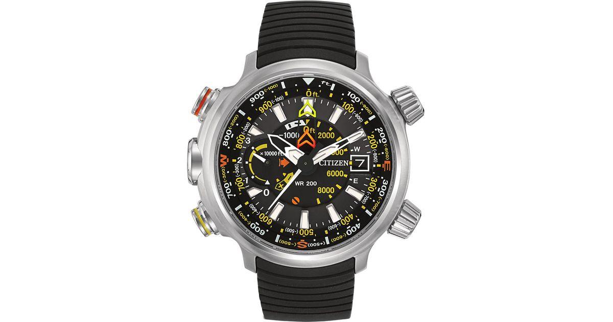 14df067f4eb Lyst - Citizen Promaster Altichron Collection Eco-drive Titanium Watch in  Black for Men