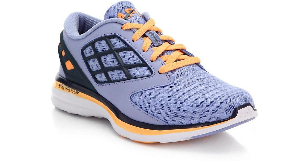 Athletic Propulsion Labs Joyride Grid-Paneled Zig-Zag Mesh Sneakers