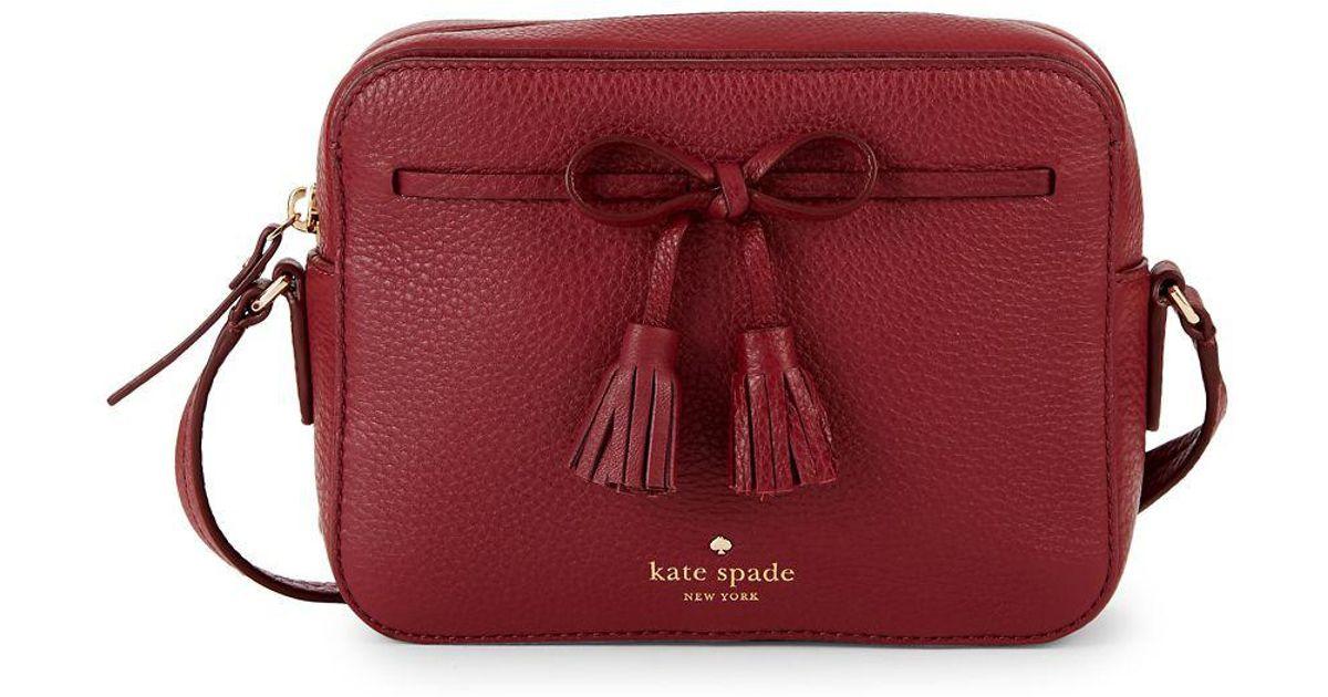 2e9ffdce0 Kate Spade Hayes Street Arla Crossbody Bag in Red - Lyst