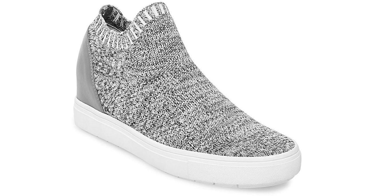 1a9a9a38bd7 Lyst - Steve Madden Sly Knit Sneakers in Gray