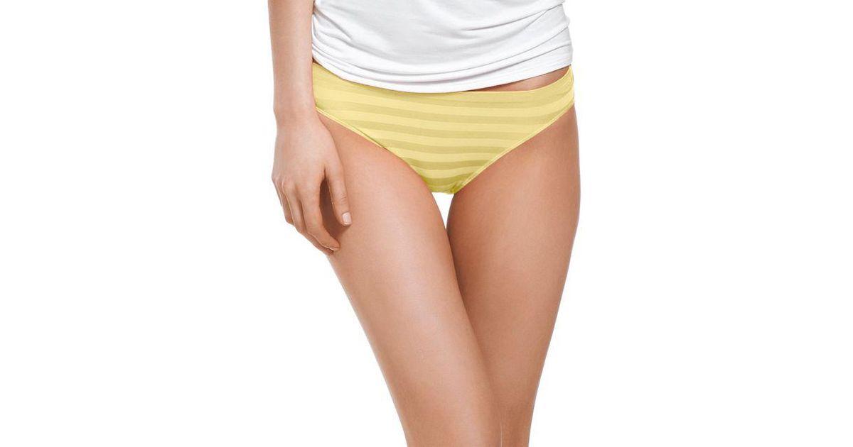 47f3b5a9f799c Lyst - Jockey Comfies Matte And Shine Bikini in Yellow