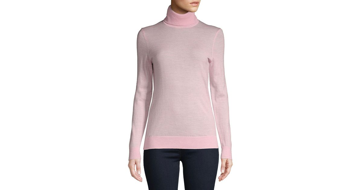 Lyst Lord Taylor Petite Petite Cashmere Turtleneck In Pink