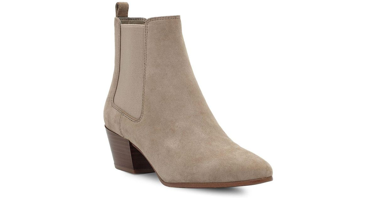 23a0940da Lyst - Sam Edelman Reesa Suede Booties in Natural