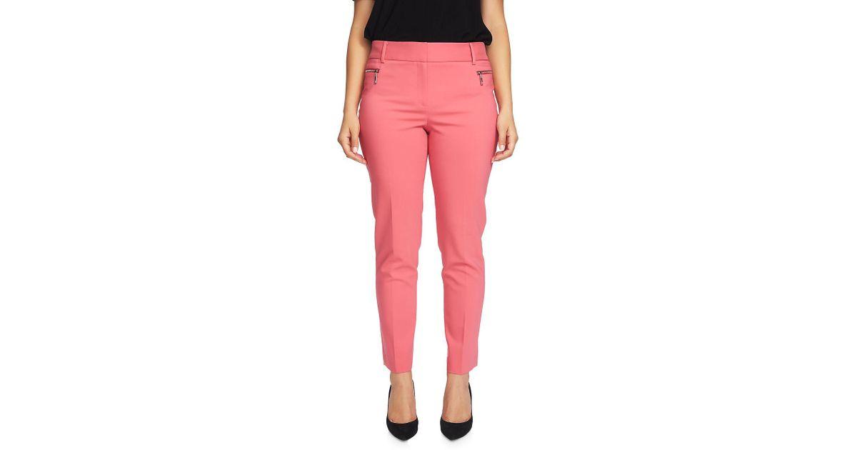 Chaus Women/'s Zipper Pocket Ankle Length Pant