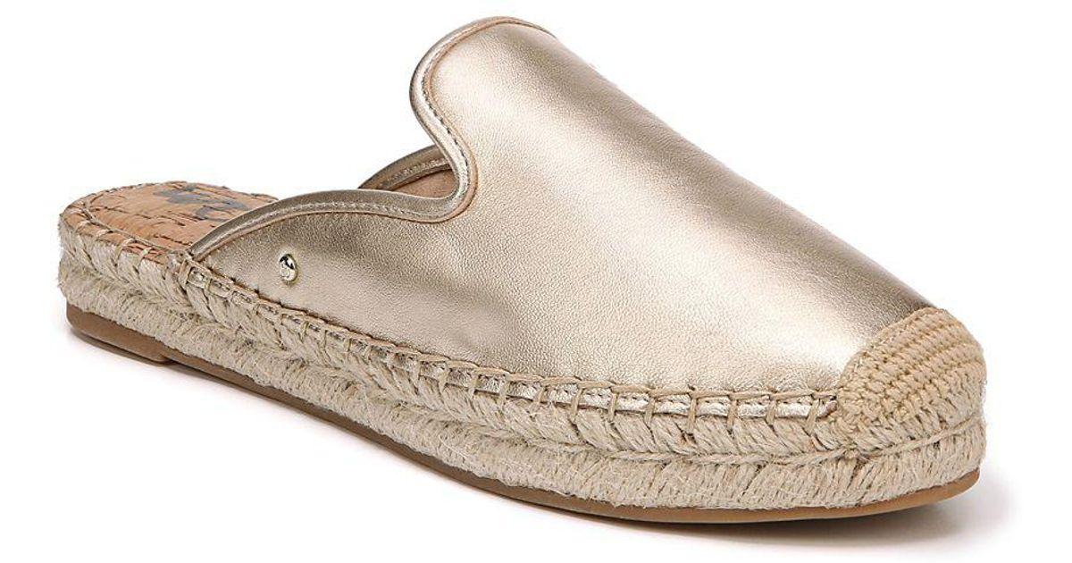 ee7674398 Sam Edelman Kerry Slip-on Leather Espadrilles in Metallic - Lyst