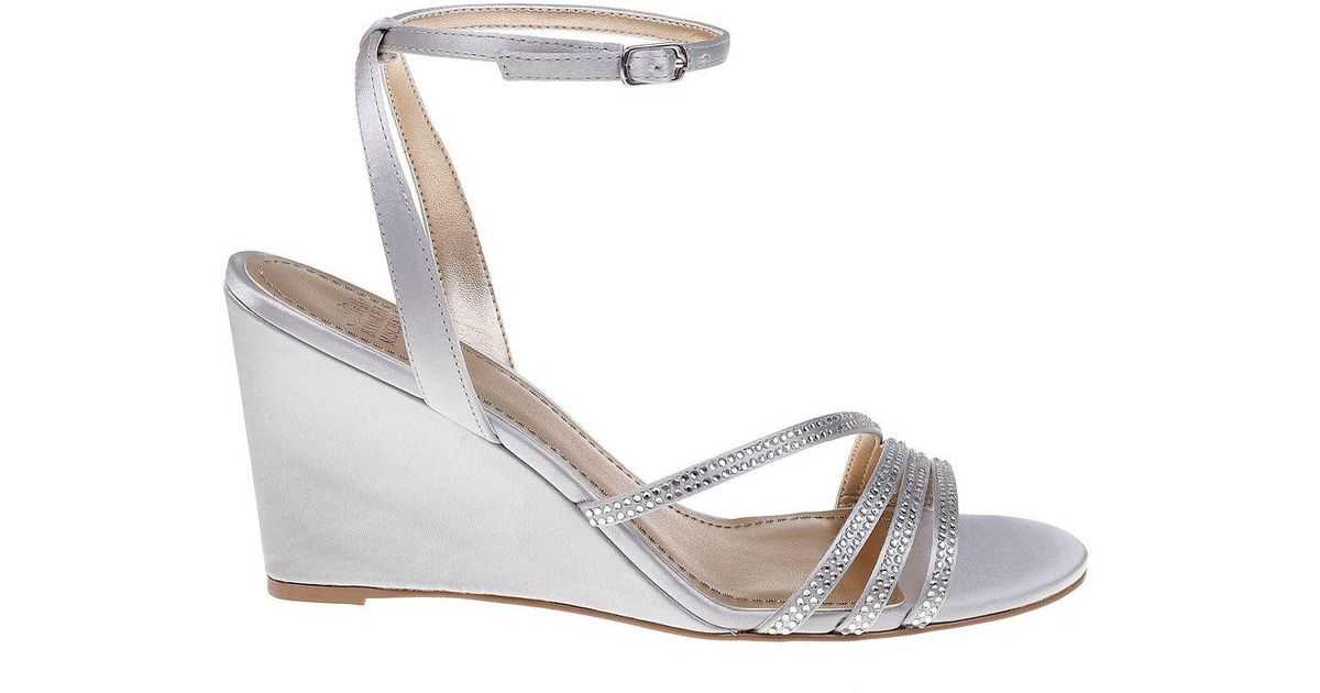 Lyst - Belle By Badgley Mischka Quaint Embellished Strappy Wedges in  Metallic