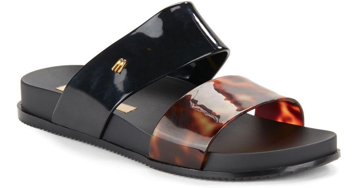 Melissa Cosmic Flatform Sandals In Black Lyst