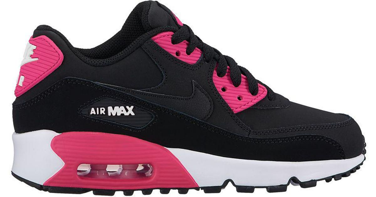 the best attitude 0e90a 7ccaa Lyst - Nike Girl s Air Max 90 Low Top Sneakers in Black for Men