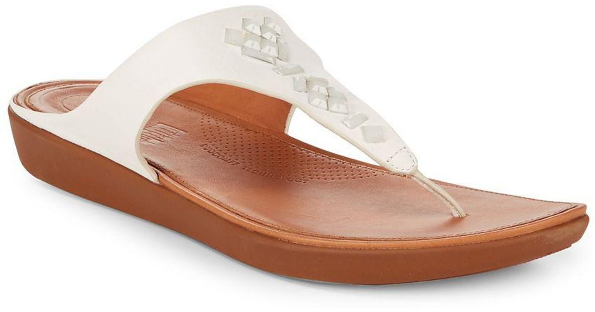 b552818dbf3ad Fitflop Banda Ii Tm Crystal-studded Leather Toe-thong Sandals - Lyst
