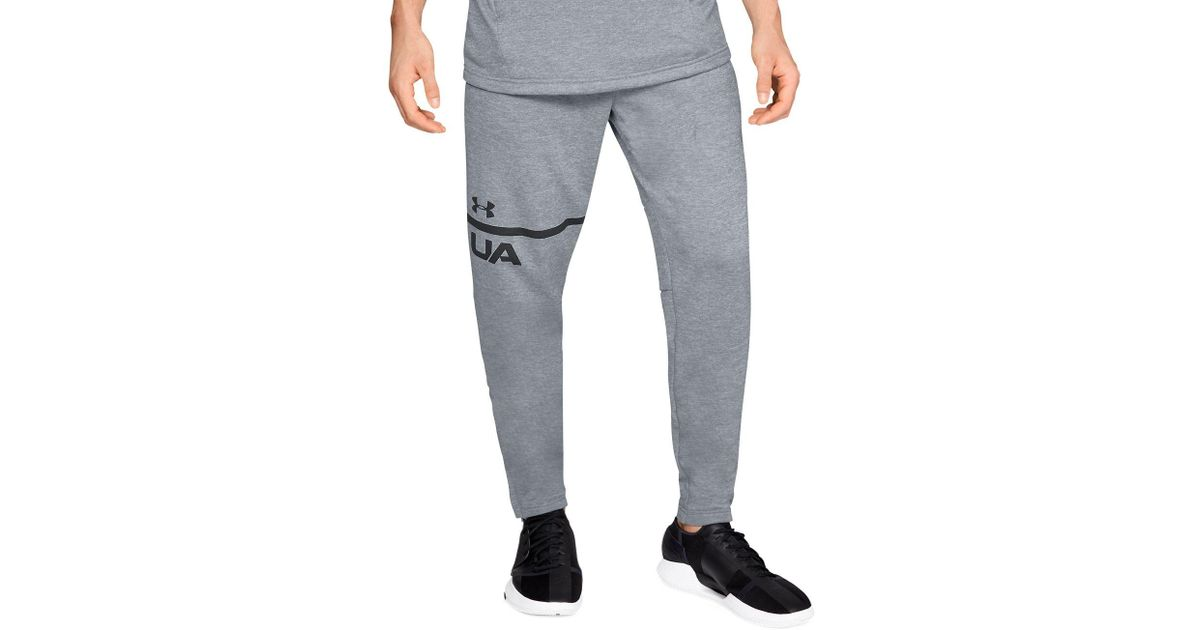 5d408e3b9dc5 Lyst - Under Armour Tech Terry Tapered Pants in Gray for Men