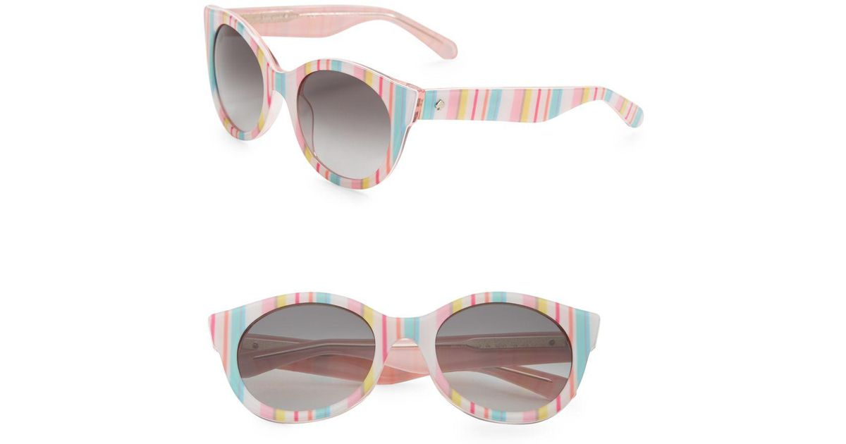 1c92048ae6 Lyst - Kate Spade Melly 53mm Round Sunglasses