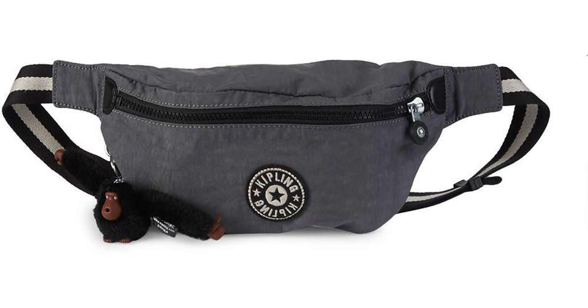 3924c605d6b Kipling Breah Zip Fanny Pack in Gray - Lyst