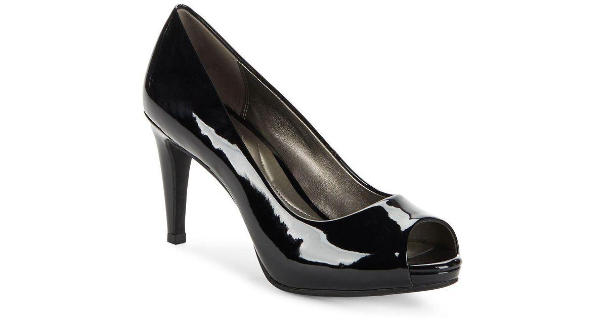 ca45666b52ed Lyst - Bandolino Rainaa Peep-toe Pumps in Black